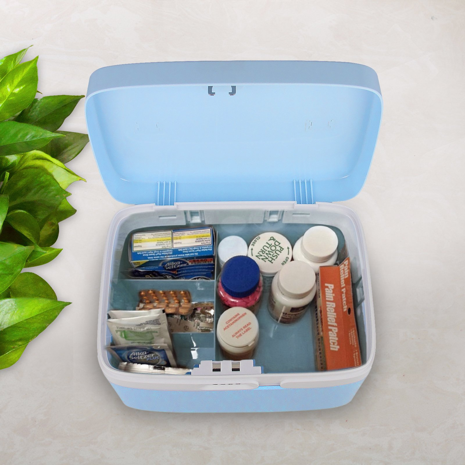 eoere Combination Lock Medicine Cabinet With Separate Compartments