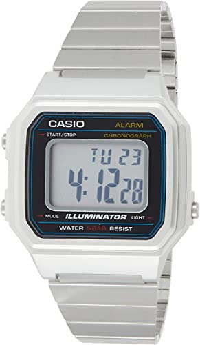 Amazon.com: Casio Men's Classic Quartz Watch with Stainless-Steel Strap,  Silver, 22.7 (Model: B650WD-1ACF): Watches