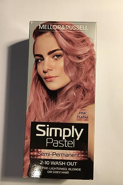 Simplemente Pastel Semi Permanente tinte de pelo – rosa (X 3