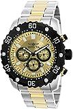 Invicta Men's 'Pro Diver' Quartz Stainless Steel Casual Watch, Color:Two Tone (Model: 22519)