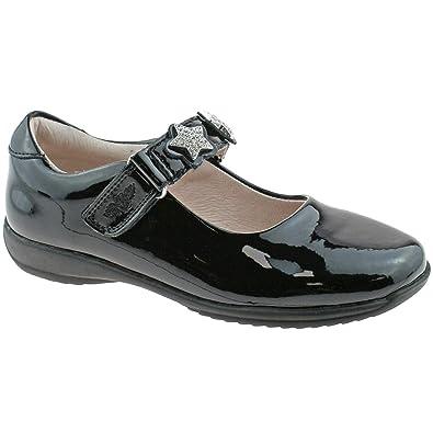 Chaussure Enfant Black Patent Licorne École Chaussures