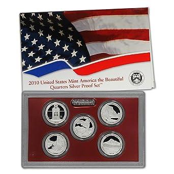 Mint made America the Beautiful  QUARTERS  proof Set U.S 2012-s SILVER