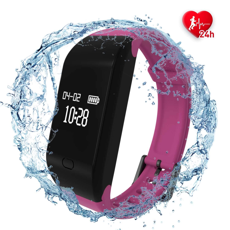 fitpolo Fitness Tracker Mujer/Hombre/Niño Pulsera Actividad con Contador de Calorias/Monitor de Sueño/Contador de Pasos/Reloj,Smartwatch Impermeable IP67 para iPhone Android product image