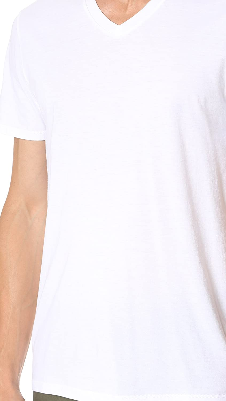 Vince Mens Favorite Pima Cotton Short-Sleeve V-Neck T-Shirt