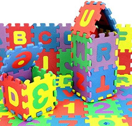 36PCS//Set Alphabet Numerals Baby Kids Play Mat Educational Toy Soft Foam Mats