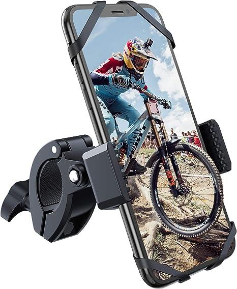 WOEOA Universel Support Smartphone Bicyclette du Guidon Aluminium Porte T/él/éphone de V/élo pour iPhone Samsung Huawei Compatible avec 4,5-6,7 Pouces Support T/él/éphone Velo /& Moto