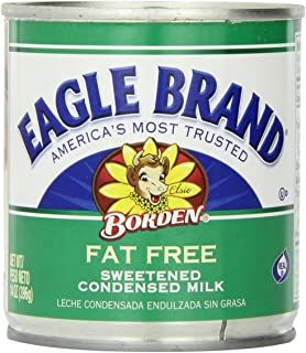 Eagle Brand Fat Free Sweetened Condensed Milk, 14 Ounce (Pack of 24)