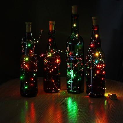 Solar 80LED Light Wine Bottle Copper Wire String light Festival Party Decor