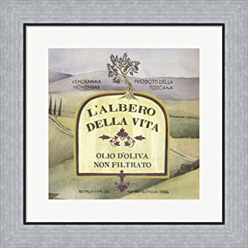 Amazon.com: Olive Oil Labels IV by Grace Popp Framed Art Print Wall ...