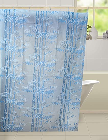Kuber IndustriesTM Floral Design PVC Premium Shower Curtain