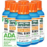 TheraBreath Gluten-Free Fresh Breath Oral Rinse, Icy Mint, 3 Ounce Bottle (Pack of 6)
