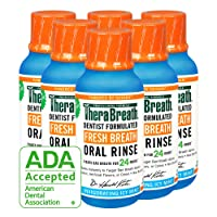 TheraBreath Gluten-Free Fresh Breath Oral Rinse, Icy Mint, 3 Ounce Bottle (Pack...