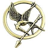 H & H UK Hunger Games Bronze et Noir Broche Film inspiré insigne Pêche feu Cosplay Fancy Dress doit dans étui en velours