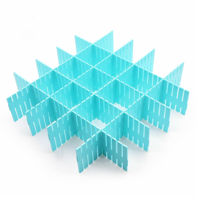 Amazoncom Diy Plastic Grid Drawer Dividerdrawer Organizerhousehold Storage Thickening Housing