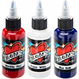 Millennium Mom's Tattoo Ink Set - Red White Blue - 1/2 oz