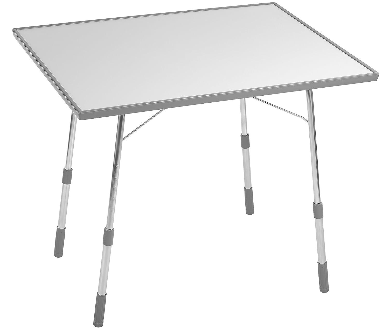 Lafuma Klappbarer, höhenverstellbarer Gartentisch, Wetterfest, California, grau, 91 x 69 cm