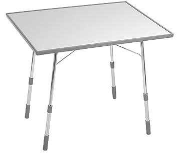 Lafuma Table de camping pliante, Hauteur réglable, 91 x 69 cm, Étanche,  California, Couleur: Gris Clair, LFM1491-8581
