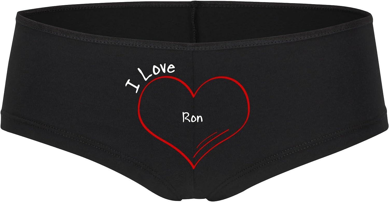 Braga para mujer modern I Love Ron negro para tallas de la S ...
