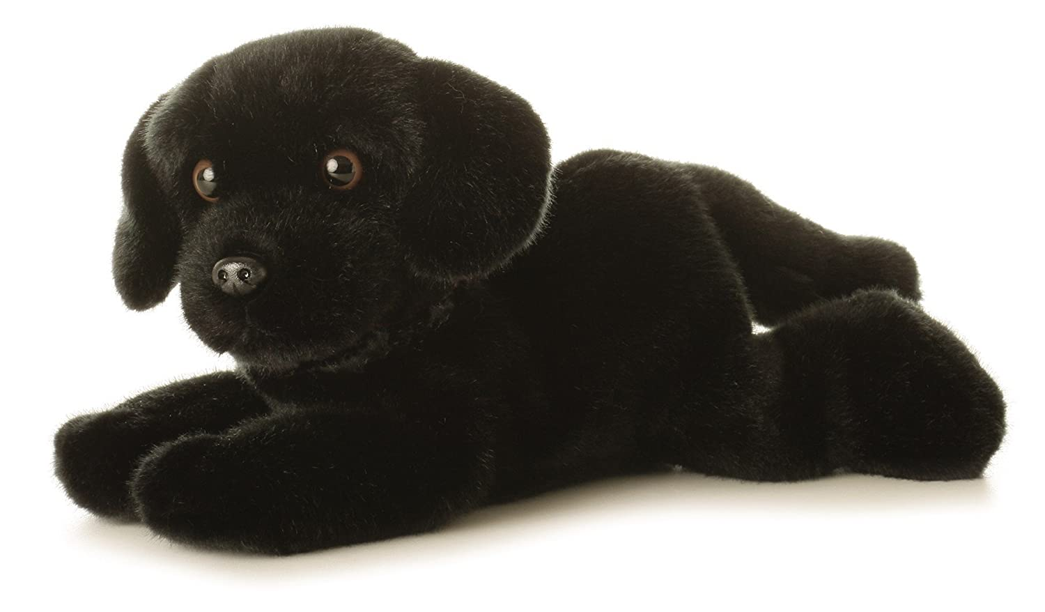 Cole Black Lab Dog 12-Inch Flopsie Stuffed Animal Aurora 06651