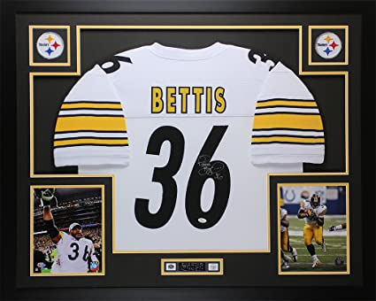 69f0a1aa5e0 Jerome Bettis Autographed White Steelers Jersey - Beautifully Matted and  Framed - Hand Signed By Jerome