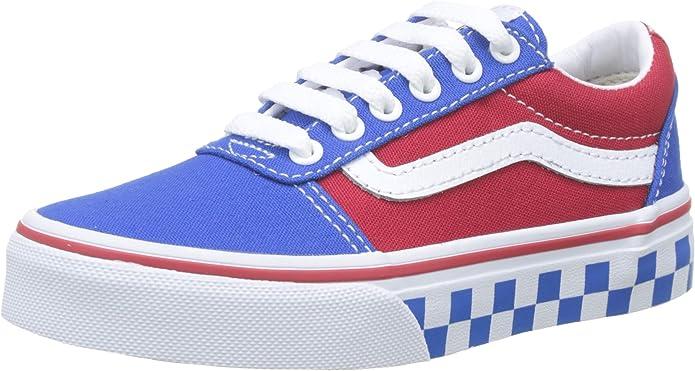 Vans Ward Sneakers Jungen Mädchen Kinder Blau/Rot (karierte Außensohle)