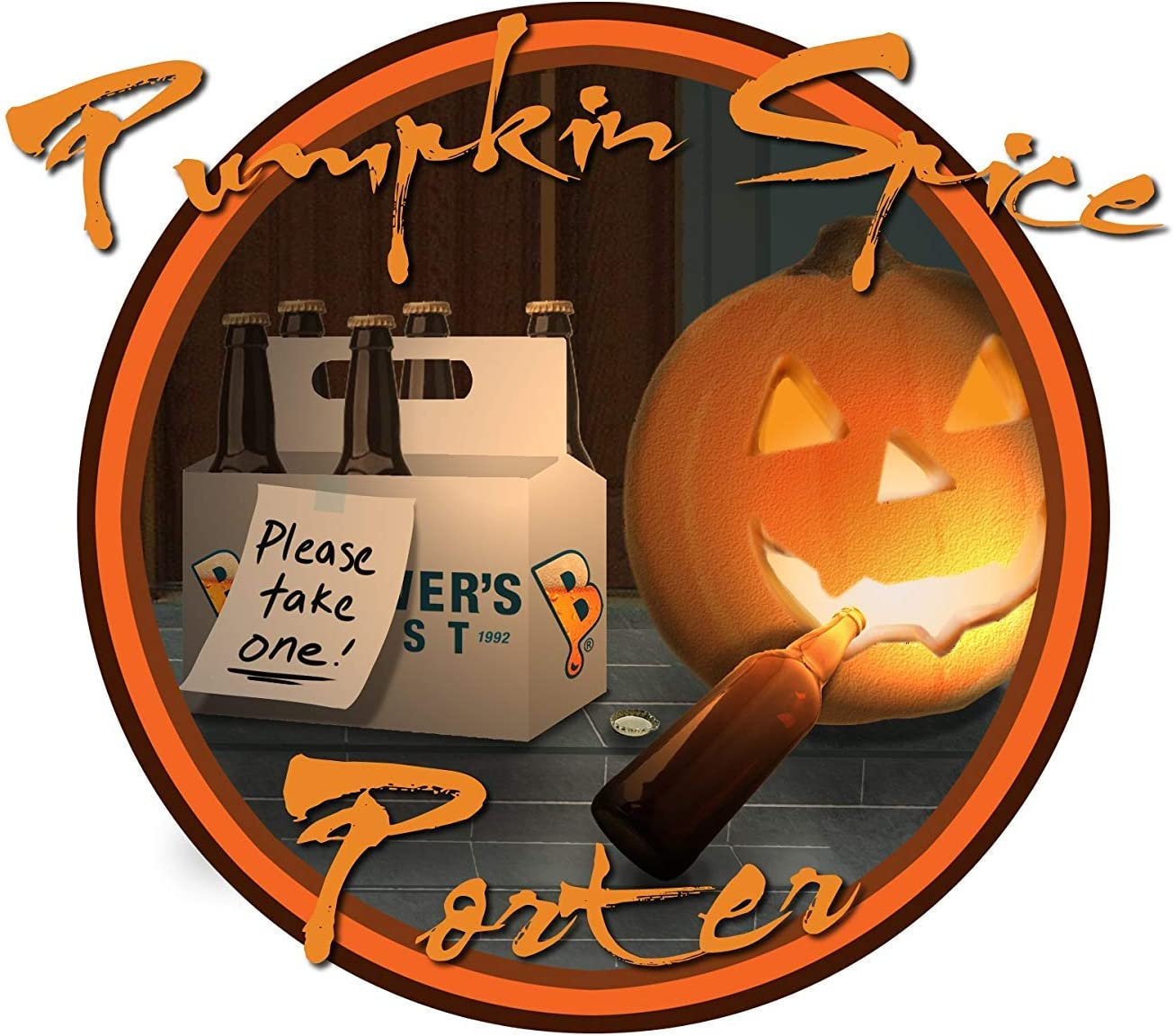 Brewer's Best - Home Brew Beer Ingredient Kit (5 gallon), (Pumpkin Spice Porter - Seasonal)