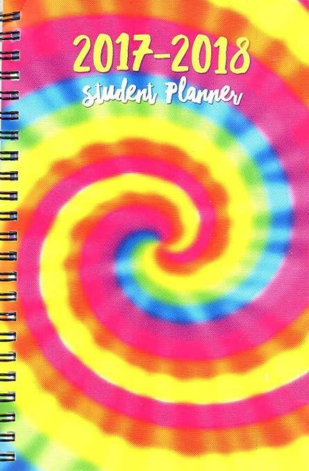 2017 - 2018 Student Planner Calendar (Rainbow) - School College Weekly / Monthly Agenda - Appointment Book Organizer - (Spiral Bound)