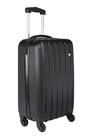7fe0727ef Nasher Miles Zurich Polycarbonate Hard-Side Cabin Luggage|Black 20 Inch / 55CM Trolley