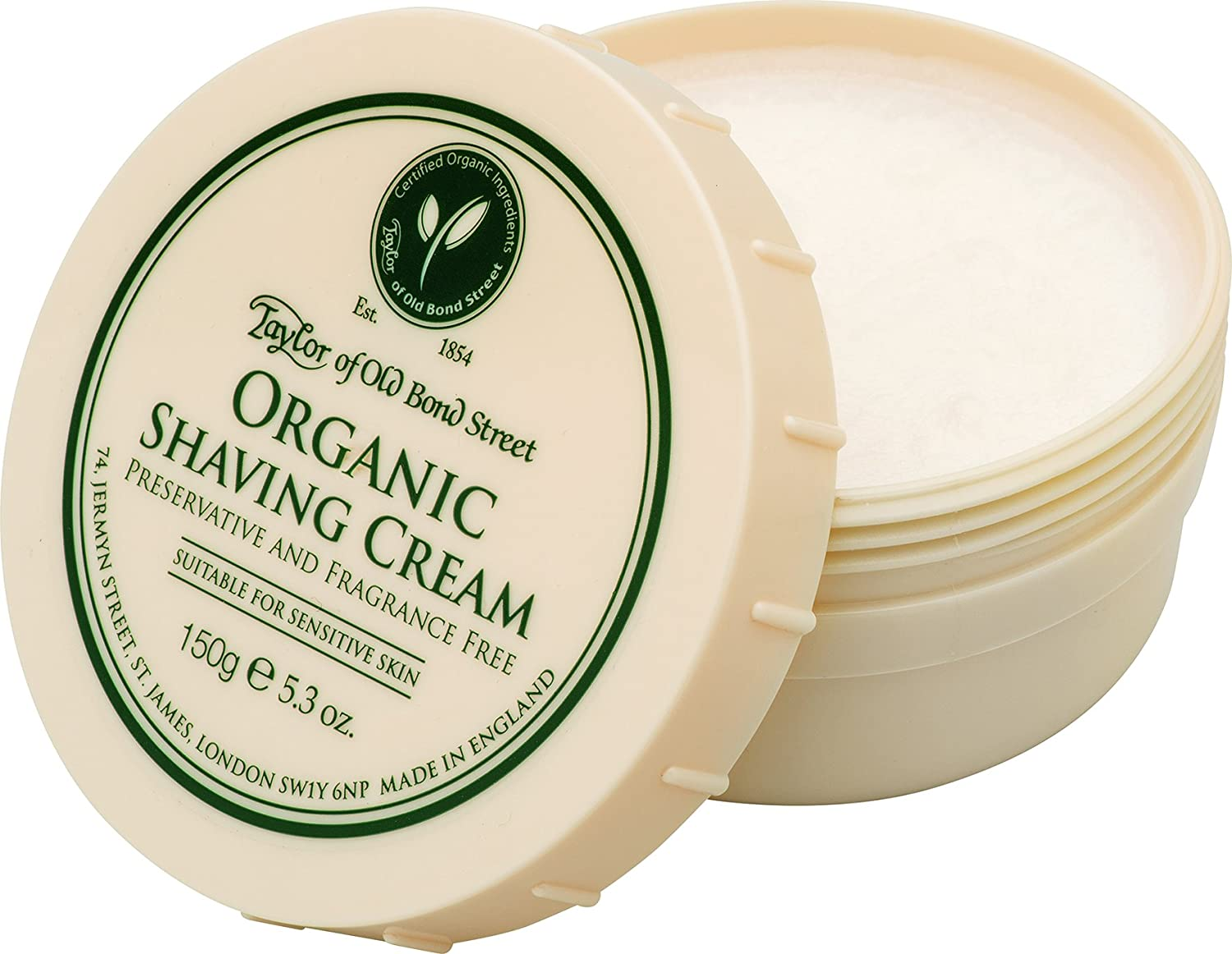 Shaving Cream Organic Shaving Cream, 150g - Taylor of Old Bond Street 45111