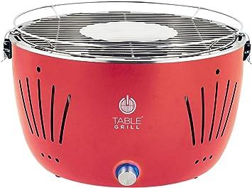 Table Grill Churrasqueira De Mesa A Carvão Vermelha Br
