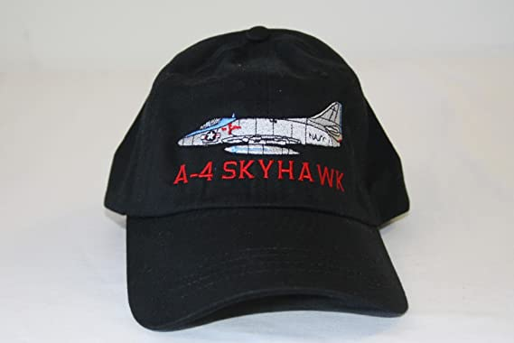 Otto Caps A-4 Skyhawk Embroidered Hats by All Star Warbirds Custom  Embroidery (Black 3f6eb358200
