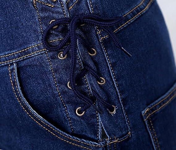 ec5e3ad39d2c Amazon.com  Foucome Plus Size Maternity Overalls Front Pocket Denim Jumpsuit  with Adjustable Drawstring  Clothing