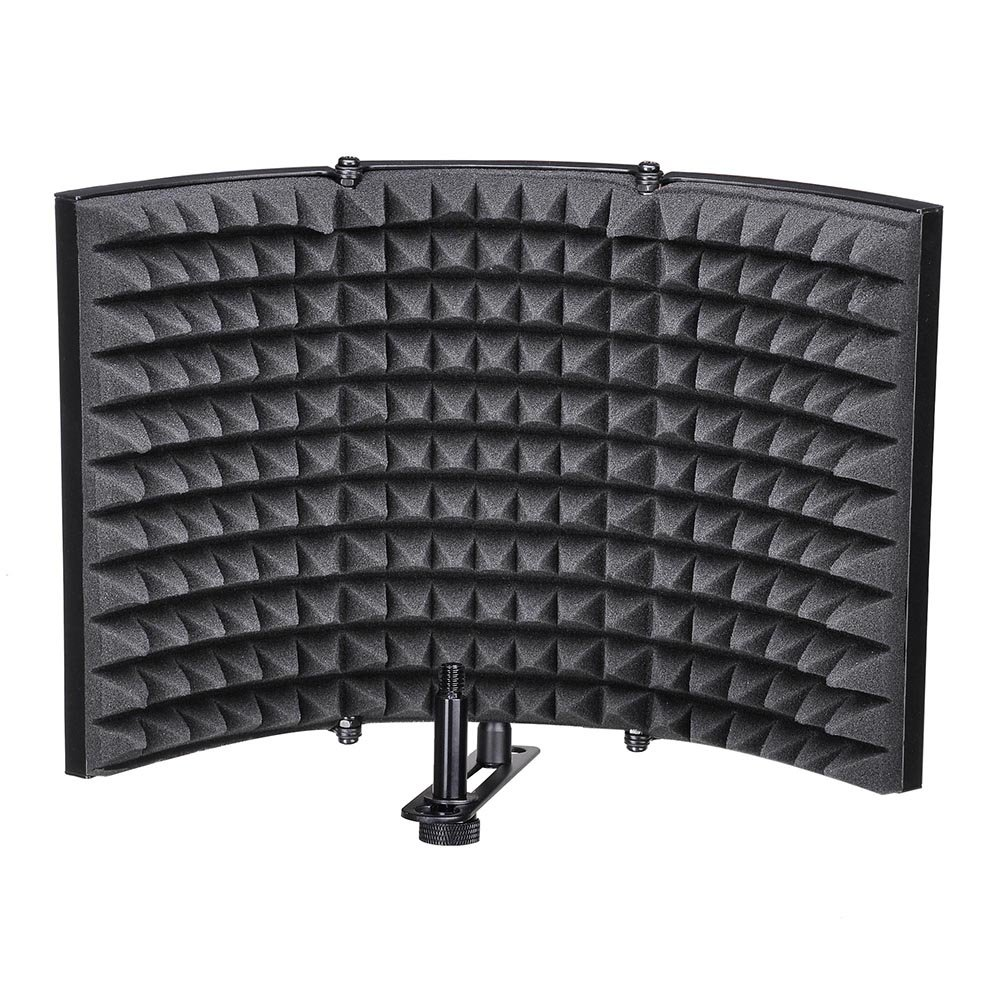 AW Studio Microphone Isolation Shield Acoustic Foam Panel Soundproof Filter Recording Panel Stand Mount by AW (Image #1)