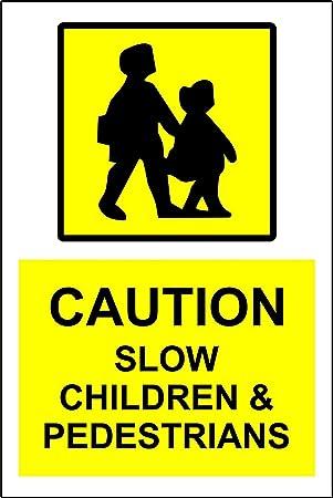 Amazon.com: Caution slow children and pedestrians sign ...