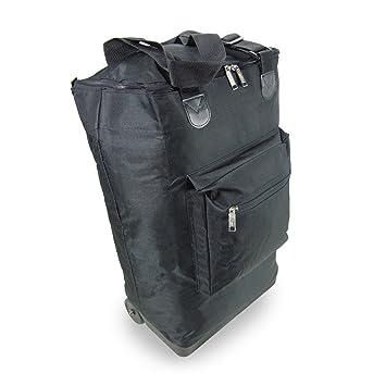 Bolsa de equipaje de mano con ruedas Bolsa de vuelo plegable con ruedas, 35 litros, 54x38x19, negro: Amazon.es: Equipaje