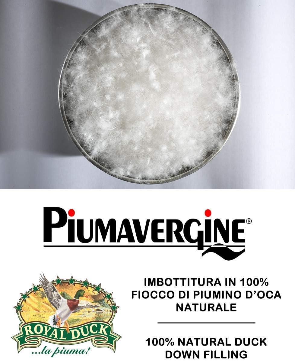 Colore Bianco Casatex Piumino Singolo con Imbottitura in 100/% Fiocco di Puro Piumino DOca