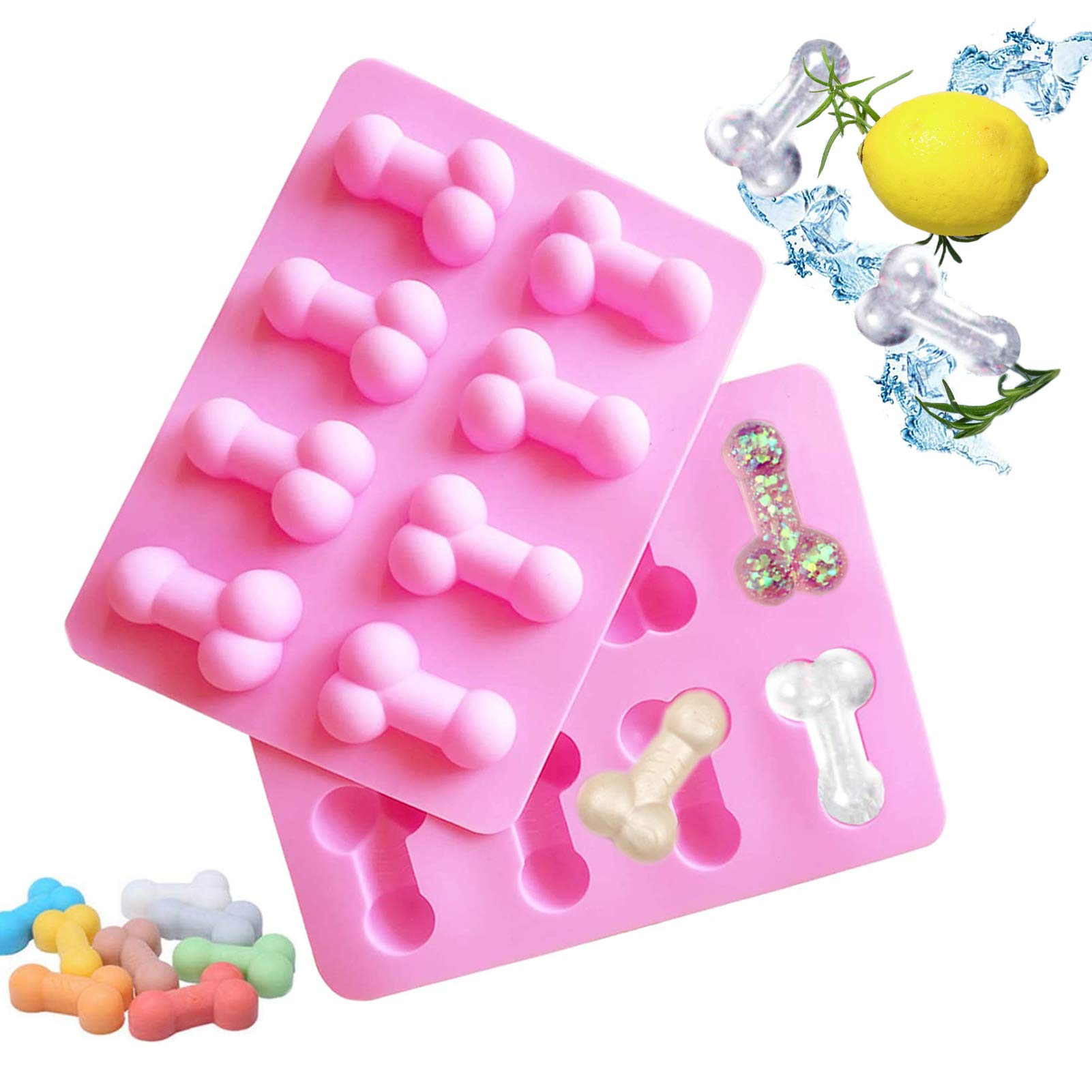 3D Ice Cube Tray Cake Chocolate MouldsBirthday Silicone Baking Novelty Funny DIYSuitable