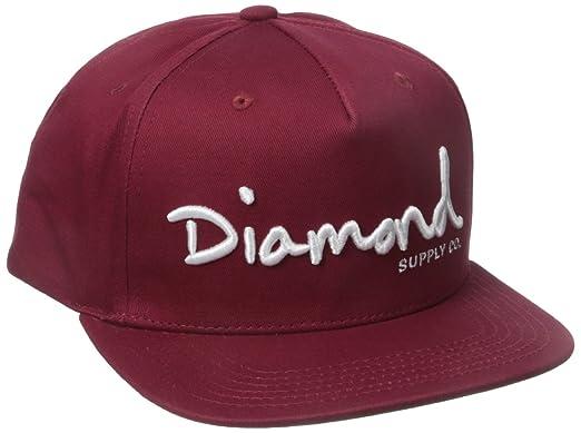 21a970c7ecb80c Amazon.com: Diamond Supply Co. Men's Og Script Snapback, Burgundy ...