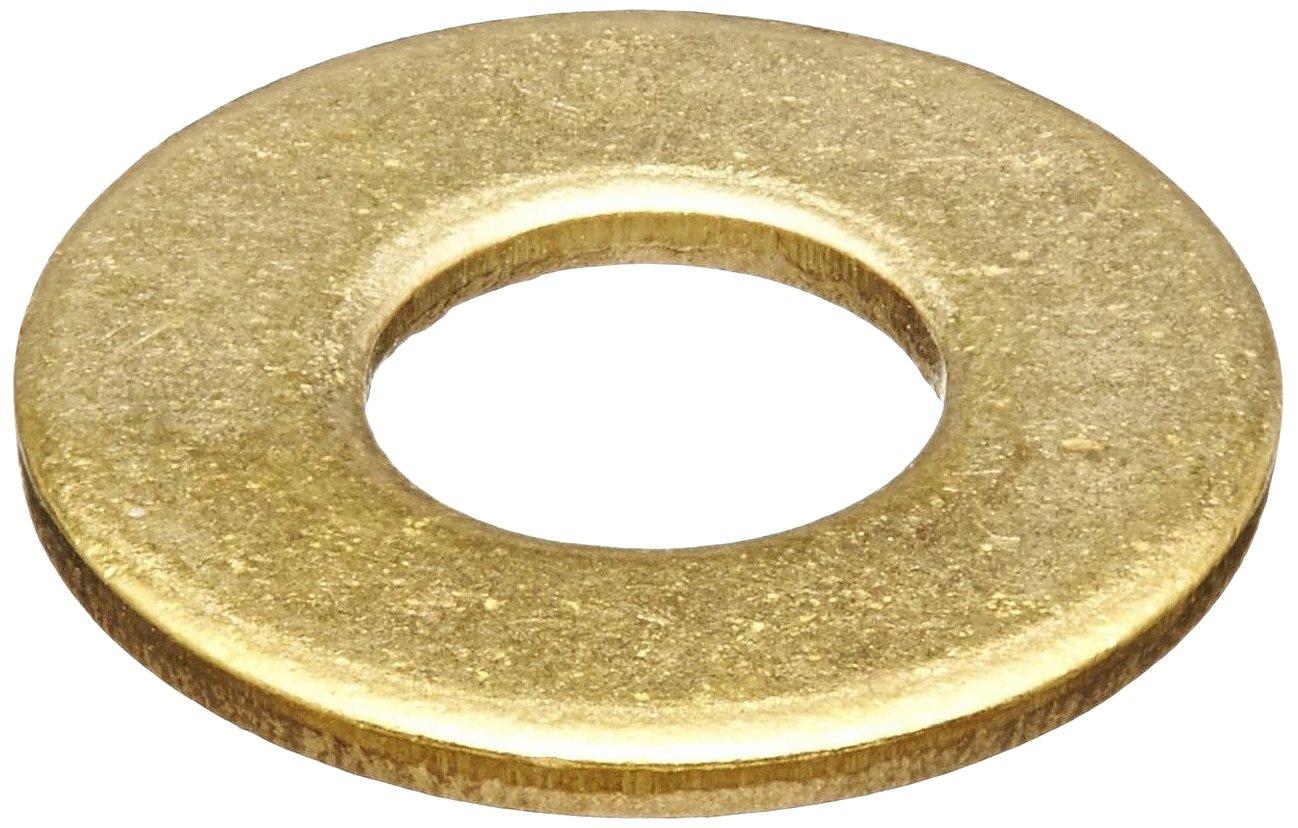 Brass Flat Washer, Plain Finish, 1-1/4' Screw Size, 1.31' ID, 3' OD, 0.155' Thick 1-1/4 Screw Size 1.31 ID 3 OD 0.155 Thick Small Parts FSC114FWB