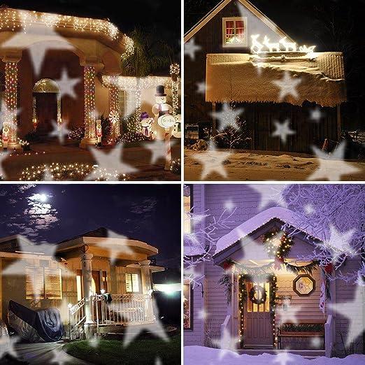 Suerte diosa patrones de paisaje de Navidad Proyector Star/copo de ...
