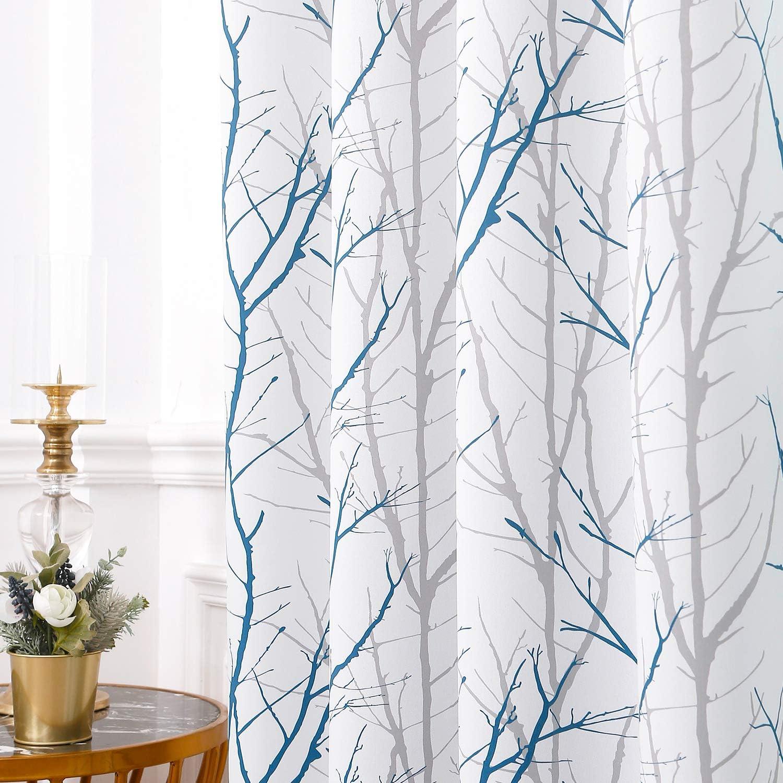 Reepow Tree Branch Room Darkening Curtains 96