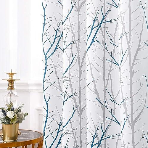 REEPOW Tree Branch Room Darkening Curtains 96″ L