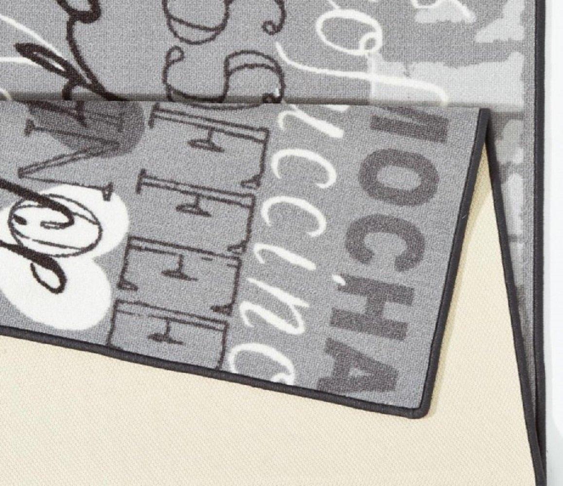 Motivo: caff/è//Cappuccino Grigio 67 x 180 cm Bavaria Home Style Collection Runner per Cucina e Bar ca