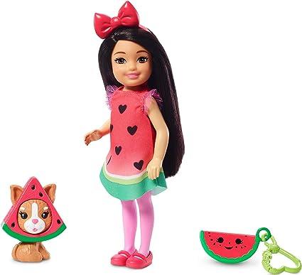 Amazon.es: Barbie Chelsea Disfraz de Sandía, Muñeca Morena con ...