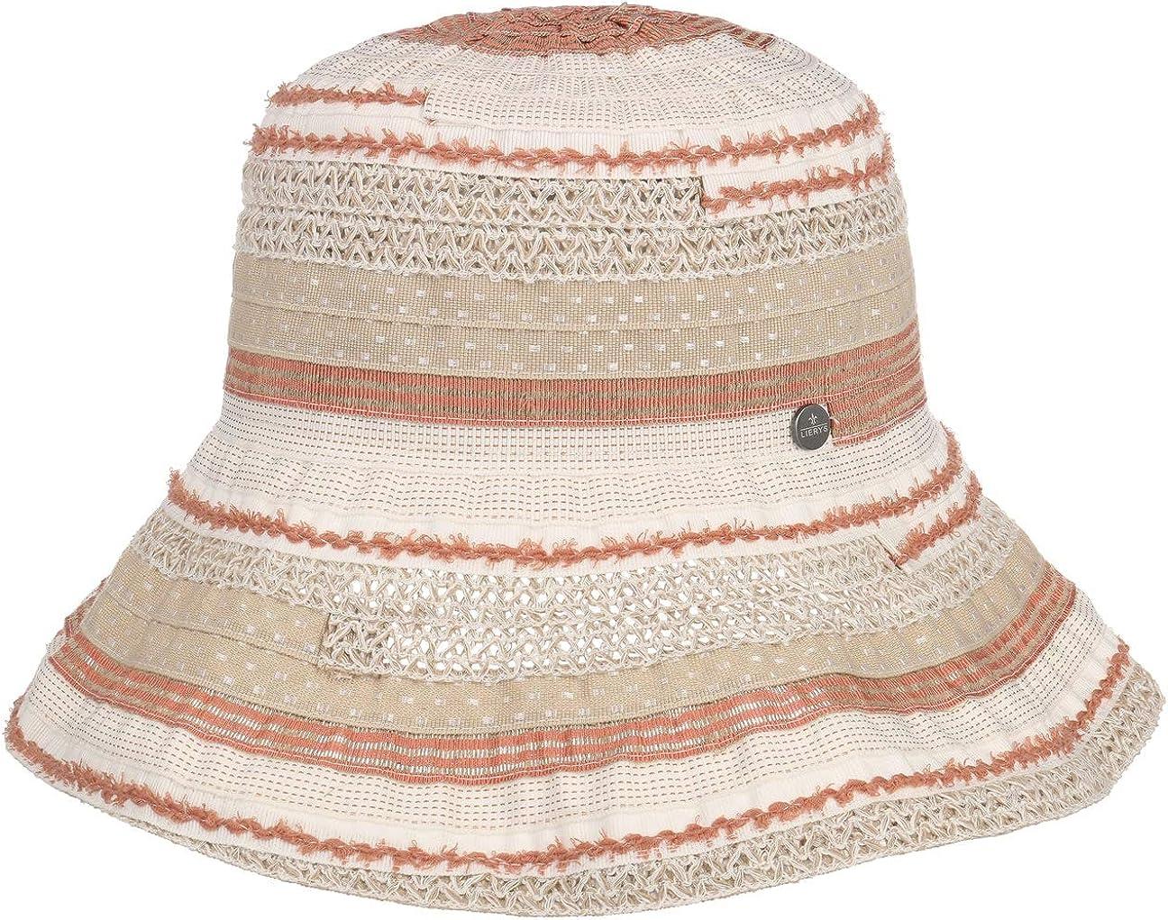Lierys Sombrero de ala Ancha Mitalia Mujer - Made in Italy Lino algodón Primavera/Verano