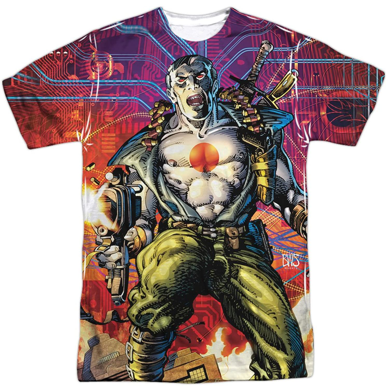 Bloodshot Valiant Comics Superhero Character Cyber War Adult Front Print T-Shirt