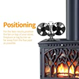 Mini Size 8 Blade Stove Fan -Silent, Heat Powered