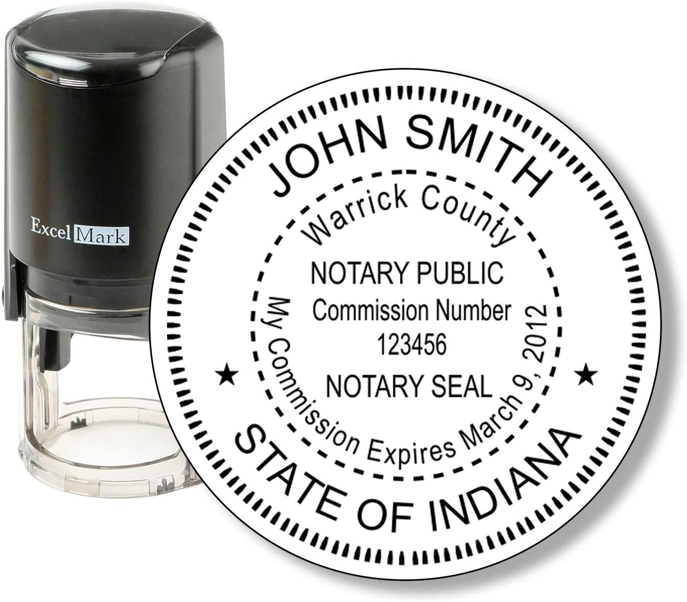 ExcelMark Self Inking Notary Stamp Kit Indiana
