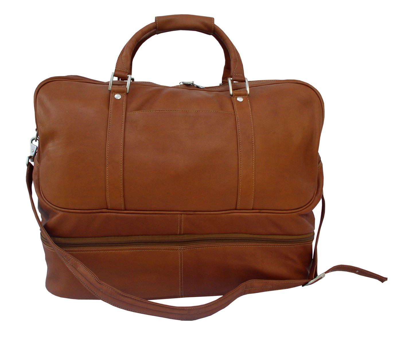 d0aac77f0c0d Piel Leather False-Bottom Sports Bag, Saddle, One Size