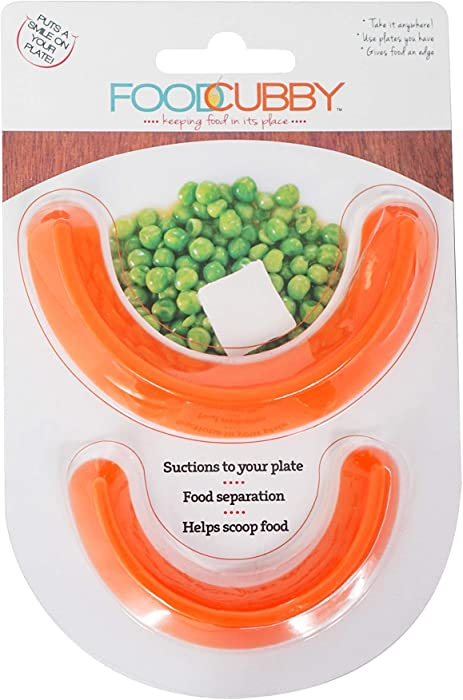 Food Cubby Plate Divider 2 PACK - Food Separator - Portion Control